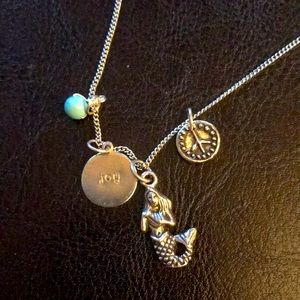 Necklace mermaid charms